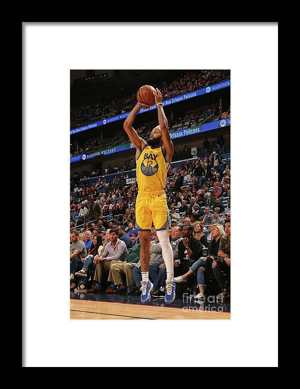 Smoothie King Center Framed Print featuring the photograph Golden State Warriors V New Orleans by Layne Murdoch Jr.