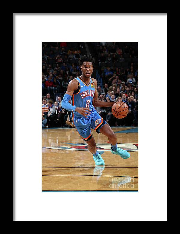 Nba Pro Basketball Framed Print featuring the photograph Golden State Warriors V Oklahoma City by Zach Beeker