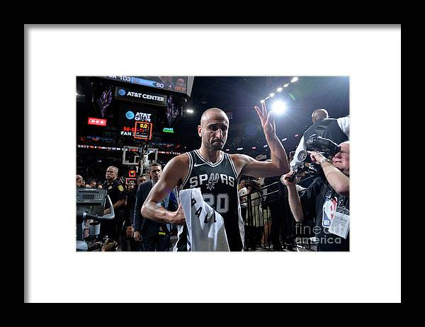 Playoffs Framed Print featuring the photograph Golden State Warriors V San Antonio by Mark Sobhani