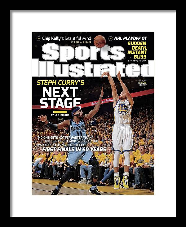Magazine Cover Framed Print featuring the photograph Golden State Warriors Vs Memphis Grizzlies, 2015 Nba Sports Illustrated Cover by Sports Illustrated