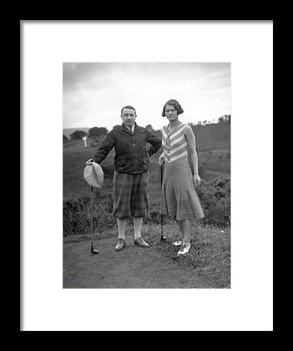 Golf At Gleneagles Framed Print By W G Phillips
