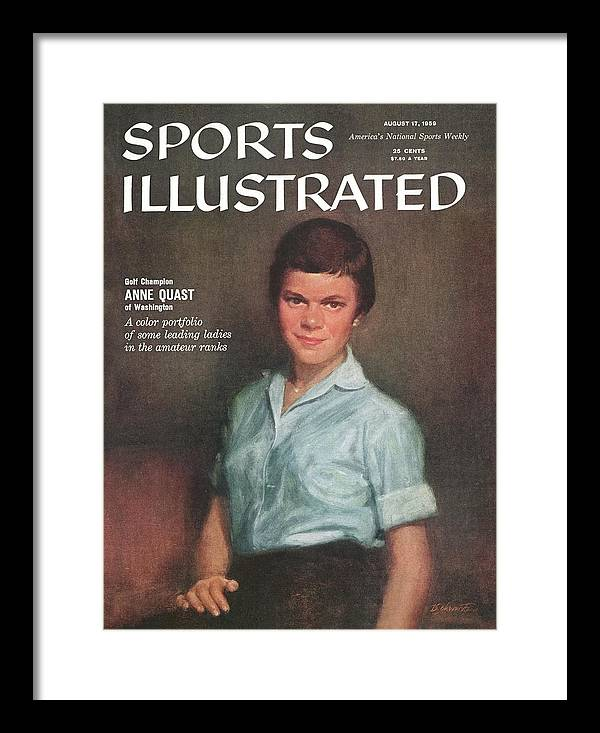Magazine Cover Framed Print featuring the photograph Golf Champion Anne Quast Sports Illustrated Cover by Sports Illustrated