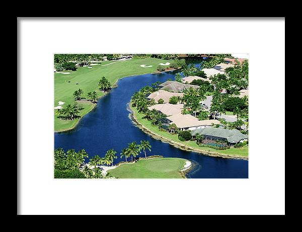 Recreational Pursuit Framed Print featuring the photograph Golf Course Community by Negaprion