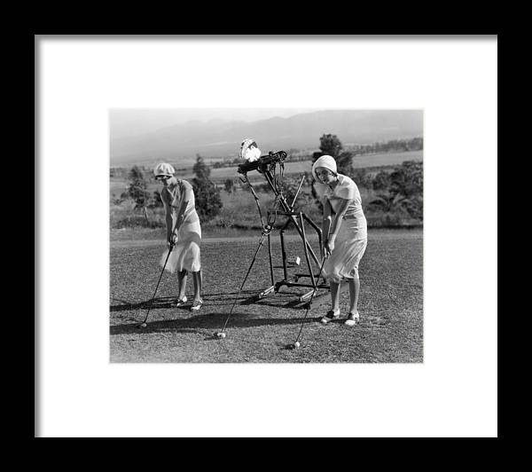 Recreational Pursuit Framed Print featuring the photograph Golf Robot by General Photographic Agency