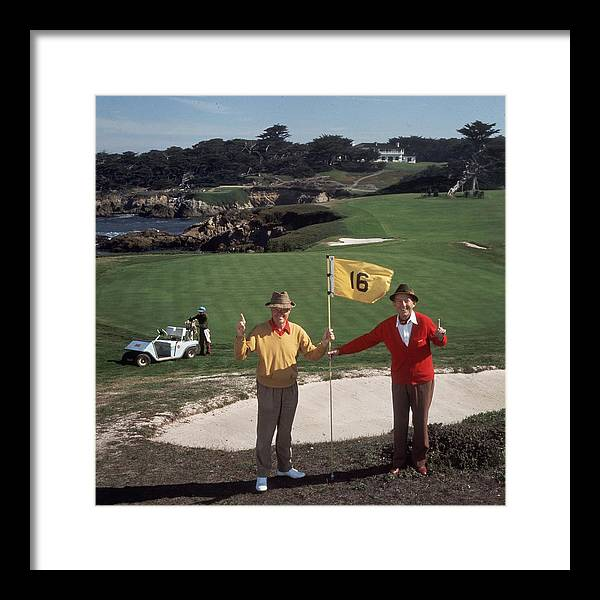 Recreational Pursuit Framed Print featuring the photograph Golfing Pals by Slim Aarons