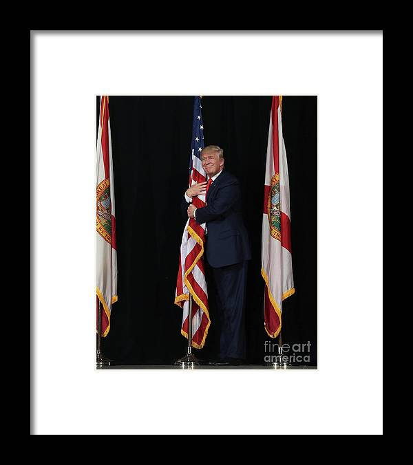 Democracy Framed Print featuring the photograph Gop Presidential Candidate Donald Trump by Joe Raedle