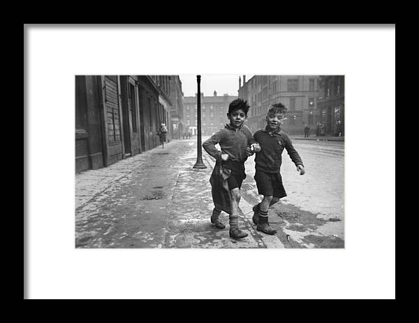 Child Framed Print featuring the photograph Gorbals Boys by Bert Hardy