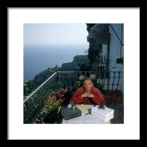 Working Framed Print featuring the photograph Gore Vidal by Slim Aarons