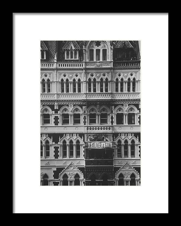 Gothic Style Framed Print featuring the photograph Gothic Architecture Office Building. P by John Dominis