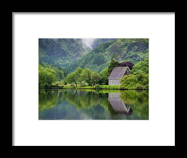 Tranquility Framed Print featuring the photograph Gougane Barra Forest Park And Lake by Bradley L. Cox