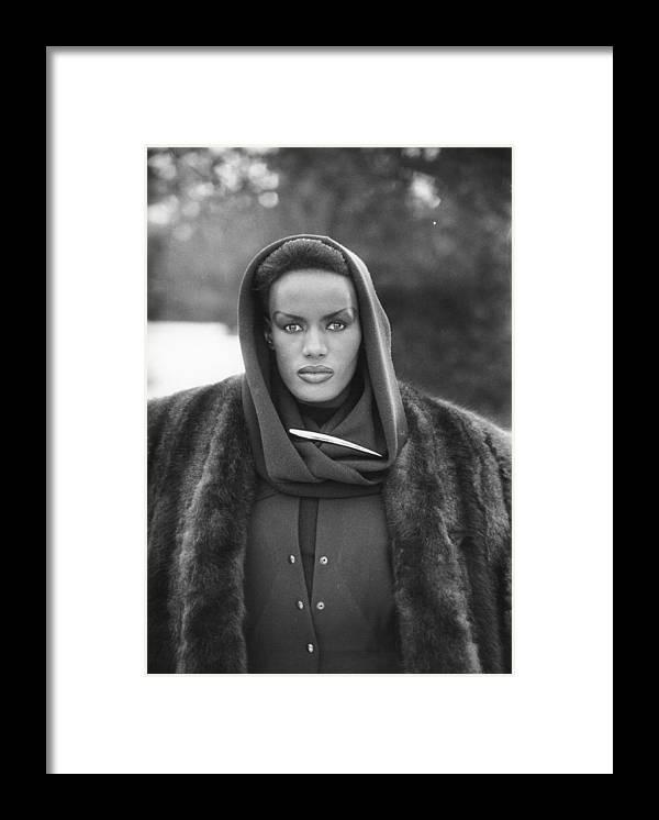 Singer Framed Print featuring the photograph Grace Jones by Larry Ellis