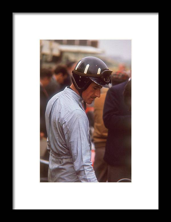 Crash Helmet Framed Print featuring the photograph Graham Hill, Dutch Grand Prix by Heritage Images