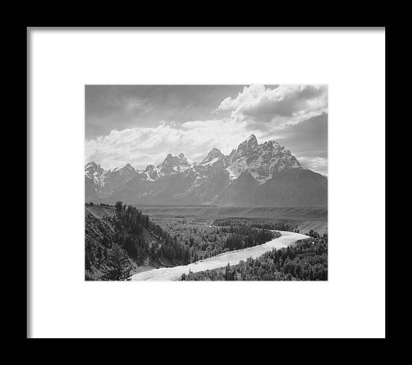Snow Framed Print featuring the photograph Grand Teton by Buyenlarge