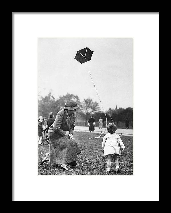 Toddler Framed Print featuring the photograph Grandmother With Toddler Girl 2-3 by Bettmann