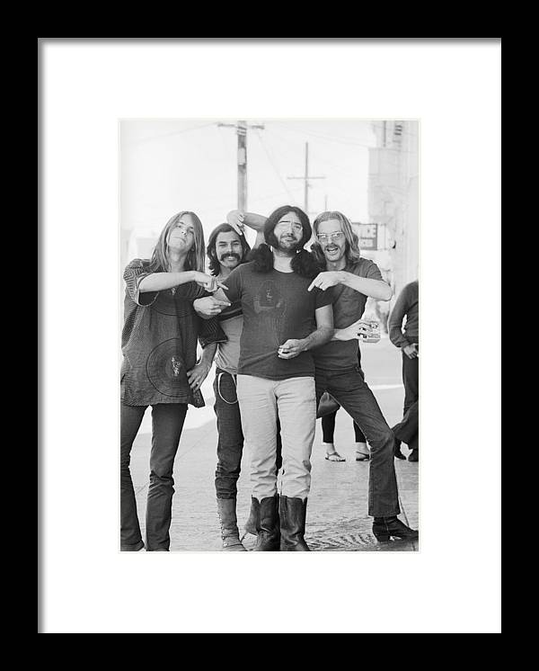 Event Framed Print featuring the photograph Grateful Dead Portrait Session In Sf by Michael Ochs Archives