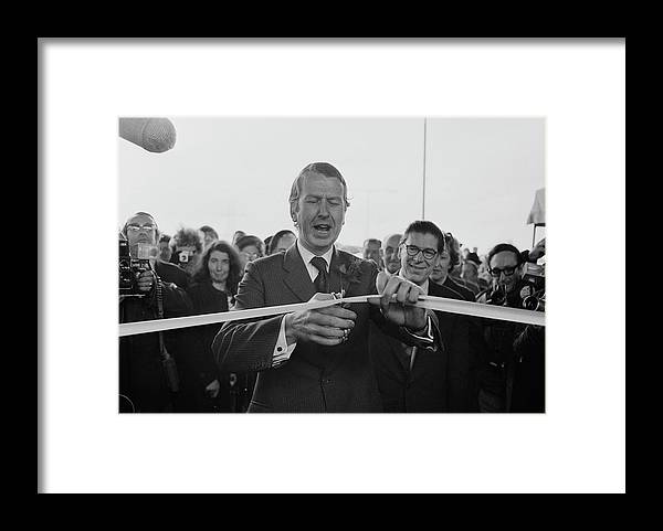People Framed Print featuring the photograph Gravelly Hill Interchange Opening by R. Viner