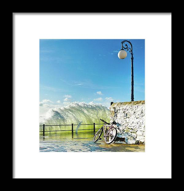Leaning Framed Print featuring the photograph Great Place To Leave Your Bike by Copyright Ian Pacey