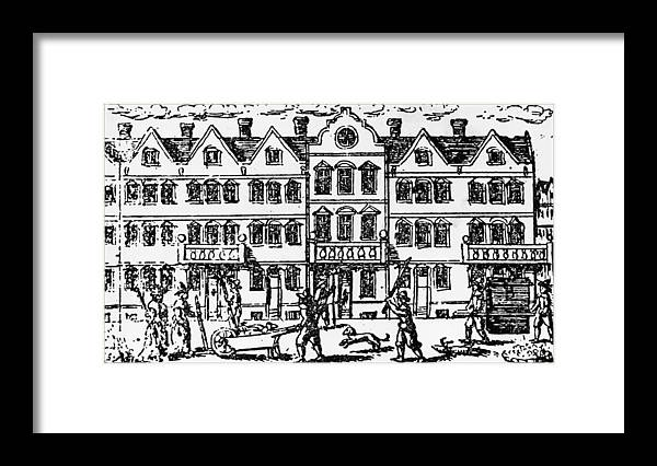 Row House Framed Print featuring the photograph Great Plague Of London by Hulton Archive