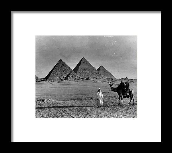 1950-1959 Framed Print featuring the photograph Great Pyramids Of Egypt by American Stock Archive
