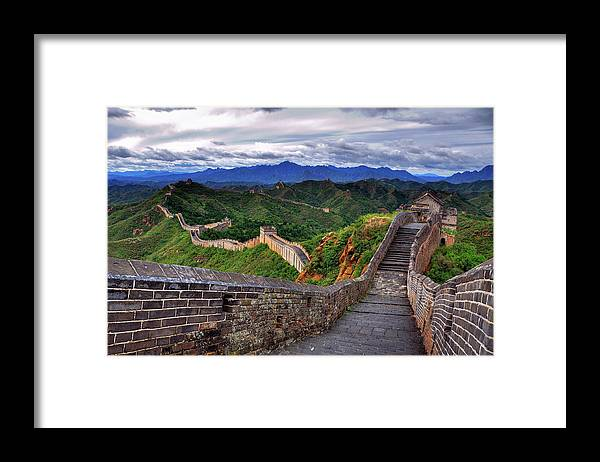 Chinese Culture Framed Print featuring the photograph Great Wall Of China by Aaron Geddes Photography