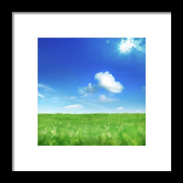Scenics Framed Print featuring the photograph Green And Blue by Imagedepotpro