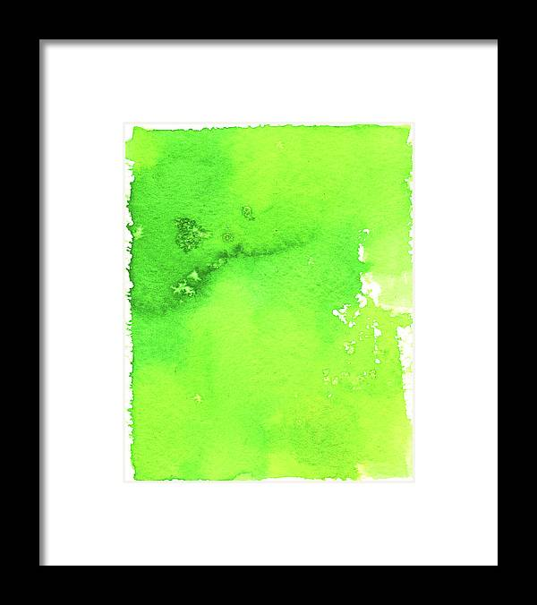 Watercolor Painting Framed Print featuring the digital art Green Background Spring Blend by Taice