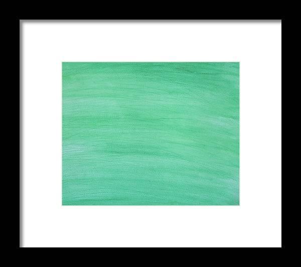Art Framed Print featuring the digital art Green Background by Stellalevi