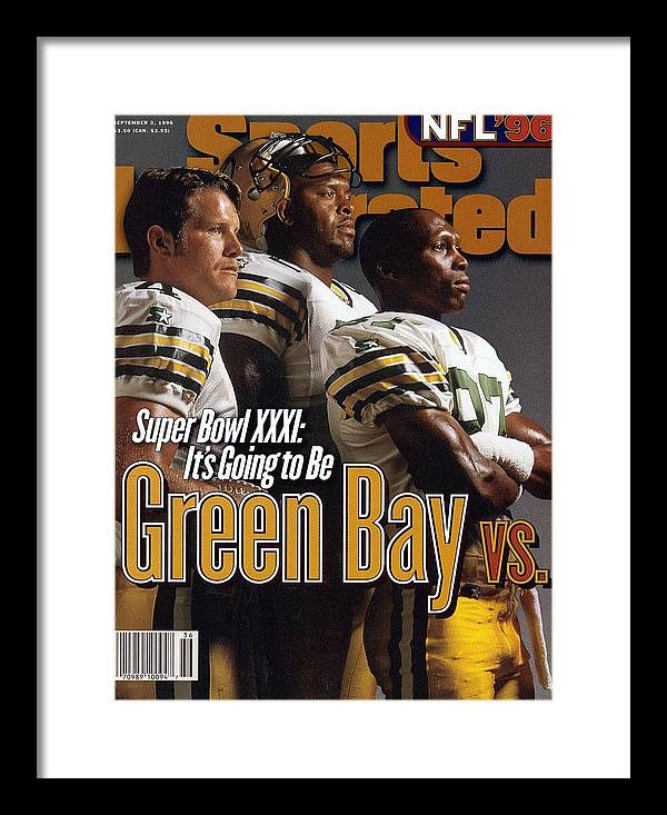 Green Bay Framed Print featuring the photograph Green Bay Packers, 1996 Nfl Football Preview Issue Sports Illustrated Cover by Sports Illustrated