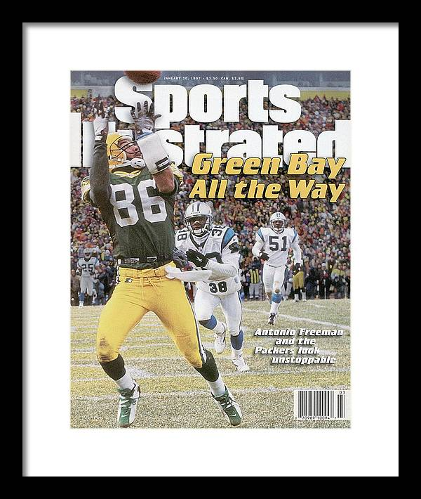 Magazine Cover Framed Print featuring the photograph Green Bay Packers Antonio Freeman, 1997 Nfc Championship Sports Illustrated Cover by Sports Illustrated