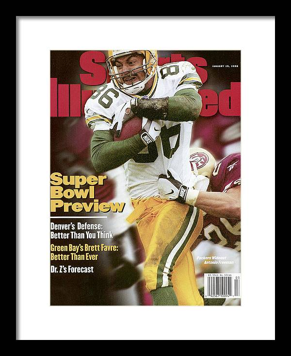 Candlestick Park Framed Print featuring the photograph Green Bay Packers Antonio Freeman, 1998 Nfc Championship Sports Illustrated Cover by Sports Illustrated