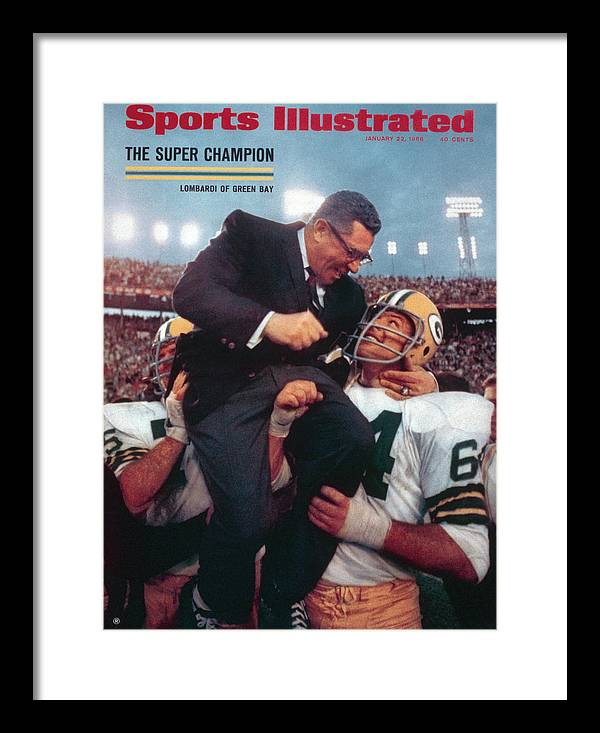 Magazine Cover Framed Print featuring the photograph Green Bay Packers Coach Vince Lombardi, Super Bowl II Sports Illustrated Cover by Sports Illustrated