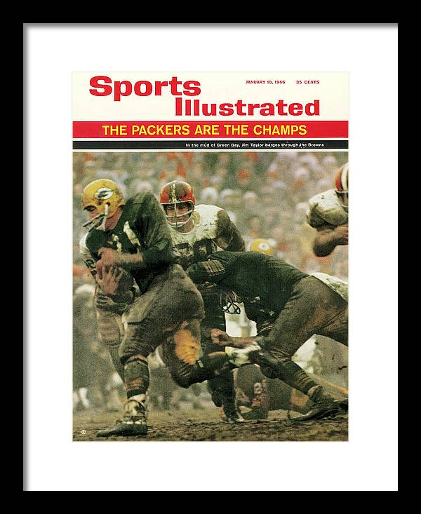 Green Bay Framed Print featuring the photograph Green Bay Packers Jimmy Taylor, 1966 Nfl Championship Sports Illustrated Cover by Sports Illustrated
