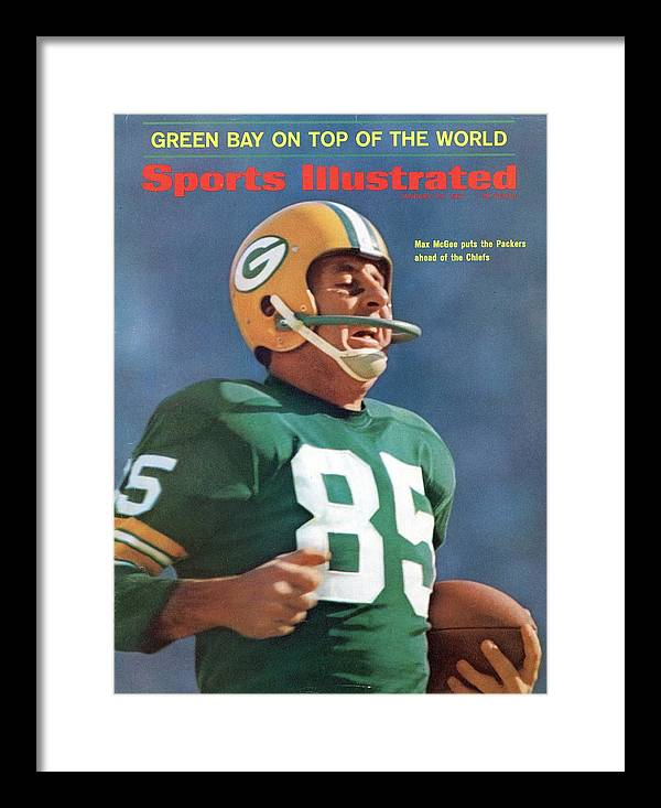 Sports Illustrated Framed Print featuring the photograph Green Bay Packers Max Mcgee, Super Bowl I Sports Illustrated Cover by Sports Illustrated