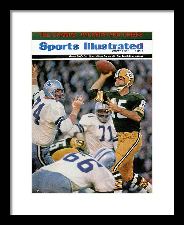 Making Framed Print featuring the photograph Green Bay Packers Qb Bart Starr, 1967 Nfl Championship Sports Illustrated Cover by Sports Illustrated
