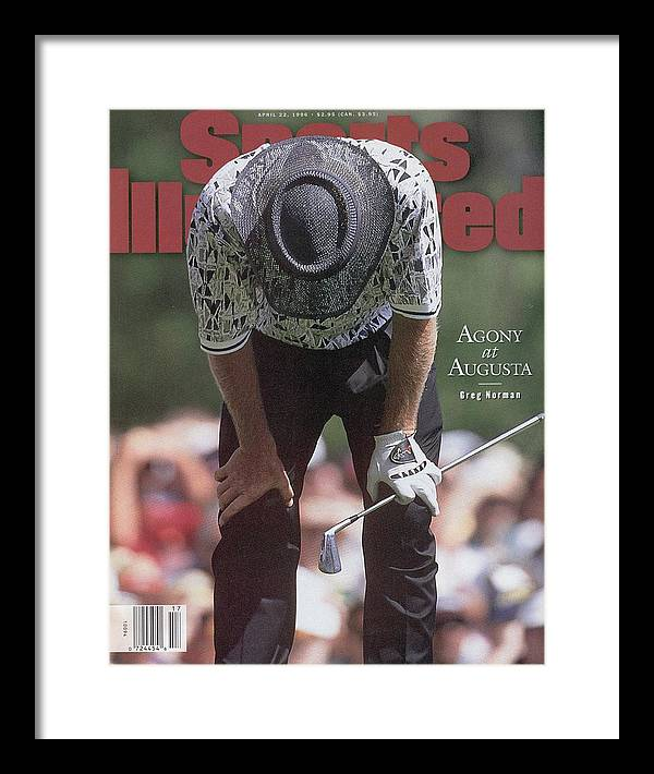 Magazine Cover Framed Print featuring the photograph Greg Norman, 1996 Masters Sports Illustrated Cover by Sports Illustrated