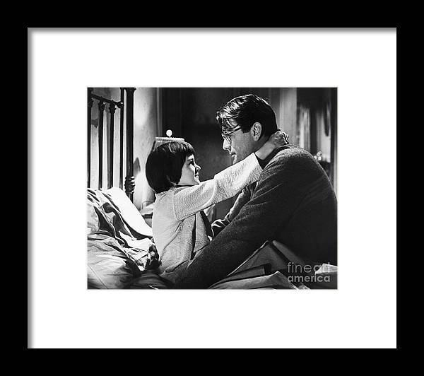 Child Framed Print featuring the photograph Gregory Peck And Mary Badham In To Kill by Bettmann