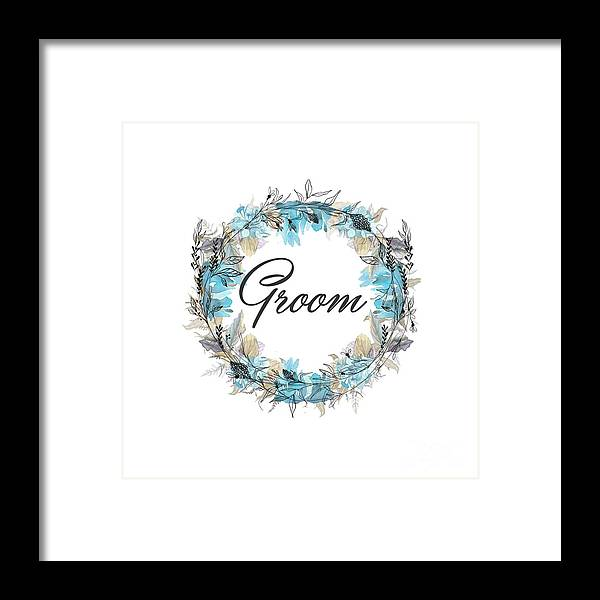 Groom Framed Print featuring the mixed media Groom by Mo T