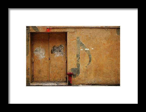 Nightclub Framed Print featuring the photograph Grunge & Music by Caracterdesign