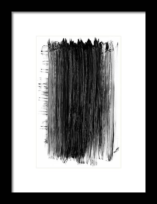 Art Framed Print featuring the photograph Grunge Black Paint Brush Stroke by 77studio