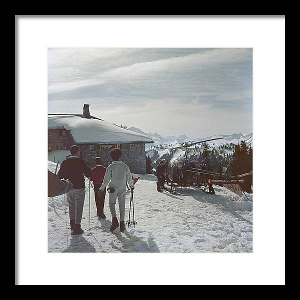 Gstaad Framed Print featuring the photograph Gstaad by Slim Aarons