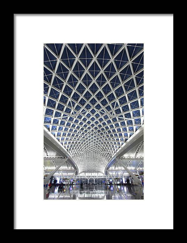 Chinese Culture Framed Print featuring the photograph Guangzhou Railway Station by Real444