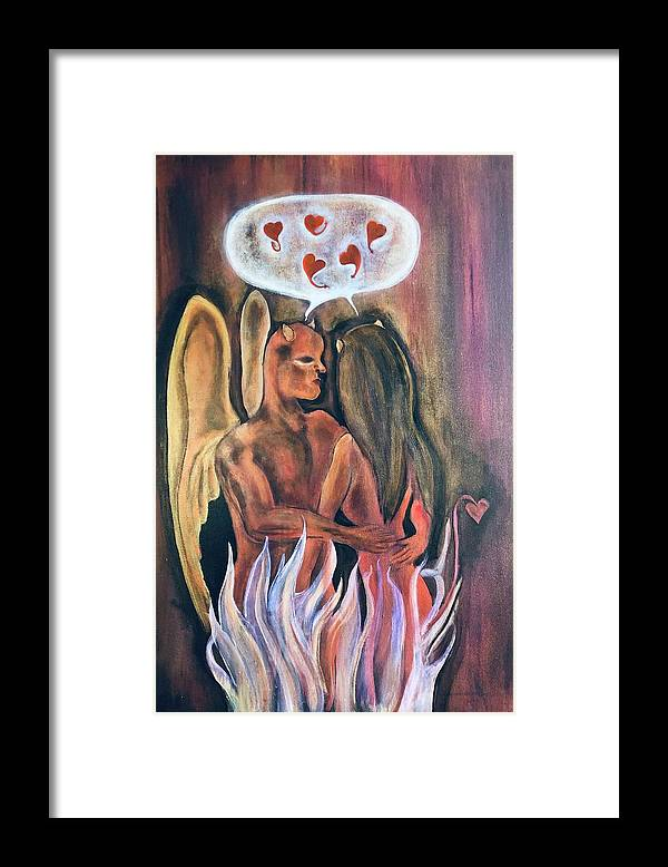 Devil Framed Print featuring the painting Guilty Pleasures by Ron Tango Jr