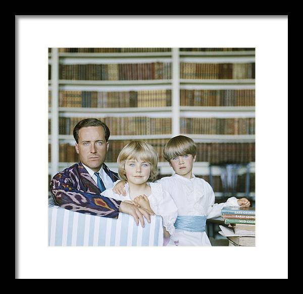 Material Framed Print featuring the photograph Guinness Family by Slim Aarons