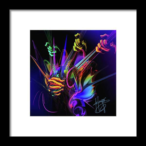 Guitar Framed Print featuring the painting Guitar 3000 by DC Langer