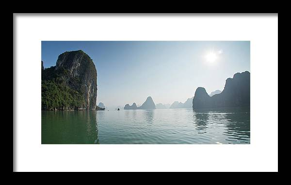 Scenics Framed Print featuring the photograph Ha Long Bay by By Thomas Gasienica
