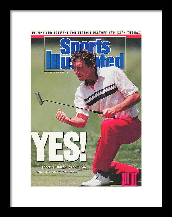 Magazine Cover Framed Print featuring the photograph Hale Irwin, 1990 Us Open Sports Illustrated Cover by Sports Illustrated