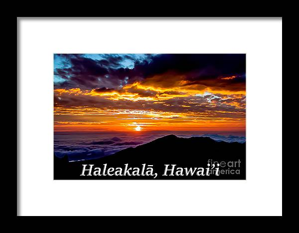 Haleakala Framed Print featuring the photograph Haleakala Hawaii by G Matthew Laughton