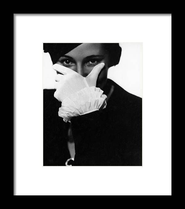 Hiding Framed Print featuring the photograph Half Concealed Face by Nicolet