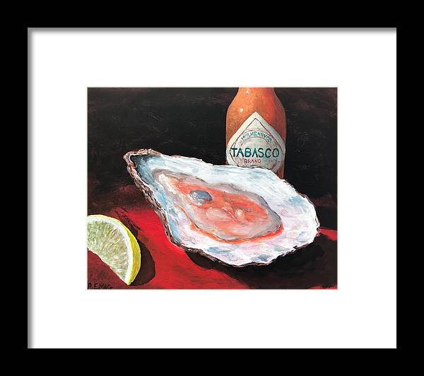 Oyster Framed Print featuring the painting Half Shell by Paul Emig