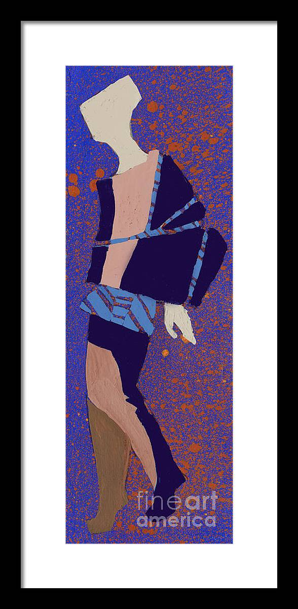 Dress Framed Print featuring the digital art Hand Drawn Fashionable Artistic by Alina Shakhovets